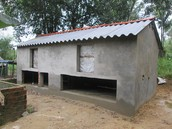 Nice looking chicken house built with funds raised from our friends to help provide funds for evangelism.