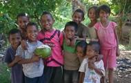 Children holding food