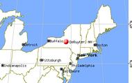 Map of DeRutyer, NewYork