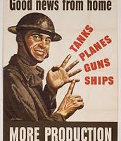 This poster was used to get people to produce war materials quicker