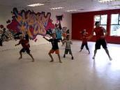 Boys dance class.