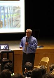 Cyberbulling Assembly - District Attorney Matt Weintraub presents to 9th Grade Students