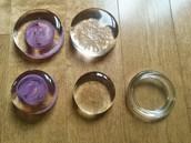 Handmade lead free glass fermenting weights