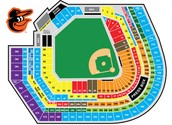 Seating Chart of Camden Yards