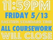 Noticias:  Final Exam and Project next week.  Closes Friday May 20th at midnight.
