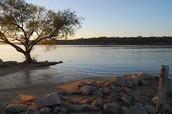 Grapevine Lake at sunset