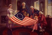 betsy shows the first american flag