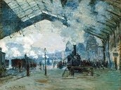 """St. Lazzare Train Station"" by Claude Monet"