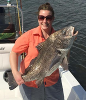 Amanda getting the big catch in Louisiana over the holiday weekend!!