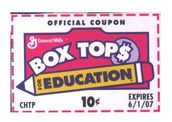 Box Tops due this week!