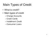 Main Types Of Credit