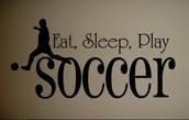 I am part of a soccer team