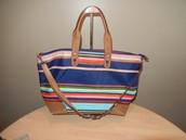 SOLD! Expandable Getaway Bag - Multi-stripe