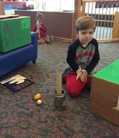 "Charlie inventing the ""Egg Ball"" game at science"