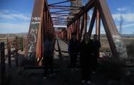 M.R.U  y M.R.U.V   El puente sobre el Río Diamante, camino a Cuadro Benegas.