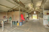 Wash Racks, 5 Stalls, Bathroom and Tack Room