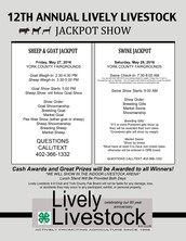 12th Annual Lively Livestock Jackpot Show