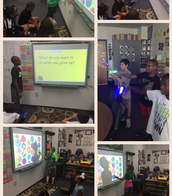 Using the Smartboard and Finger lights