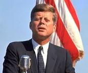 John F. Kennedy giving a speech.