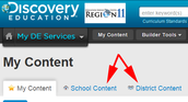 Finding School & District Content