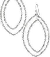 Bardot Hoop Earrings - silver