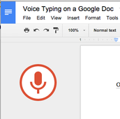 Voice Typing in a Document