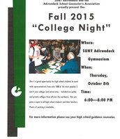 2015 College Night Flyer
