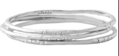 Rhea Silver bangles (set of 3) - SOLD!!