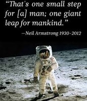 Neil Armstrong's famous quote.