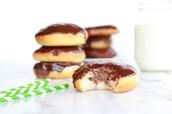 Chocolate cream filled donut recipe
