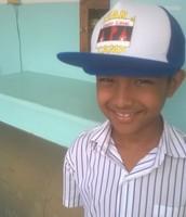 Dhruv wearing his winning camp hat design.