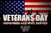 Veteran's Day Assembly:  November 11th