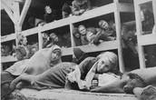 People sleeping in the barracks.