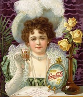 הפרסומת לקוקה קולה משנות ה- 90 של המאה ה- 19
