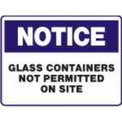 No GLASS Water Bottles or Containers