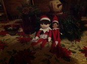 Our elves Lizzie and Emma