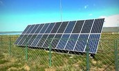 Large Solar Panel in a Field