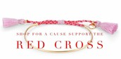 Order the Fete Bracelet in gold and a donation will be made to the Red Cross