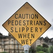 Pedestrians, why are you slippery!?