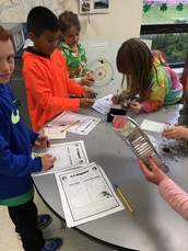 Mrs. Reaney's third grade class learned about magnets