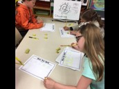 Rolling dice to practice addition problems