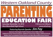 Parenting Education Fair on Saturday, November 12th