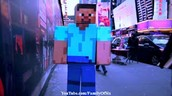 REAL LIFE MINECRAFT STEVE VISITS TIMES SQUARE NYC!!!!