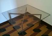 Tavolino in vetro basso da salotto