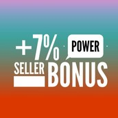 Sold at least $5000 to earn the 7% Power Seller Bonus!