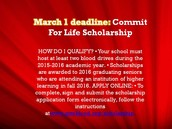 Commit For Life March 1st