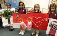 Kindergarten Students Celebrate 100 Days of School