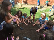 Garden Club is busy planting their fall crop.