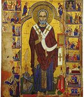 Icona di San Nicola, fine del XII secolo, tempera e olio su tavola, Museo Bizantino di Nicosia