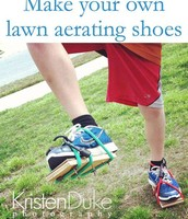 Make your lawn aerate through shoes